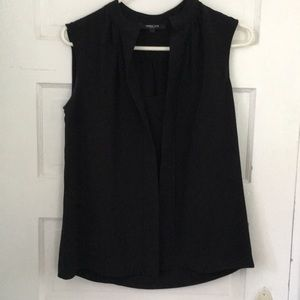 Derek Lam black silk sleeveless blouse us4